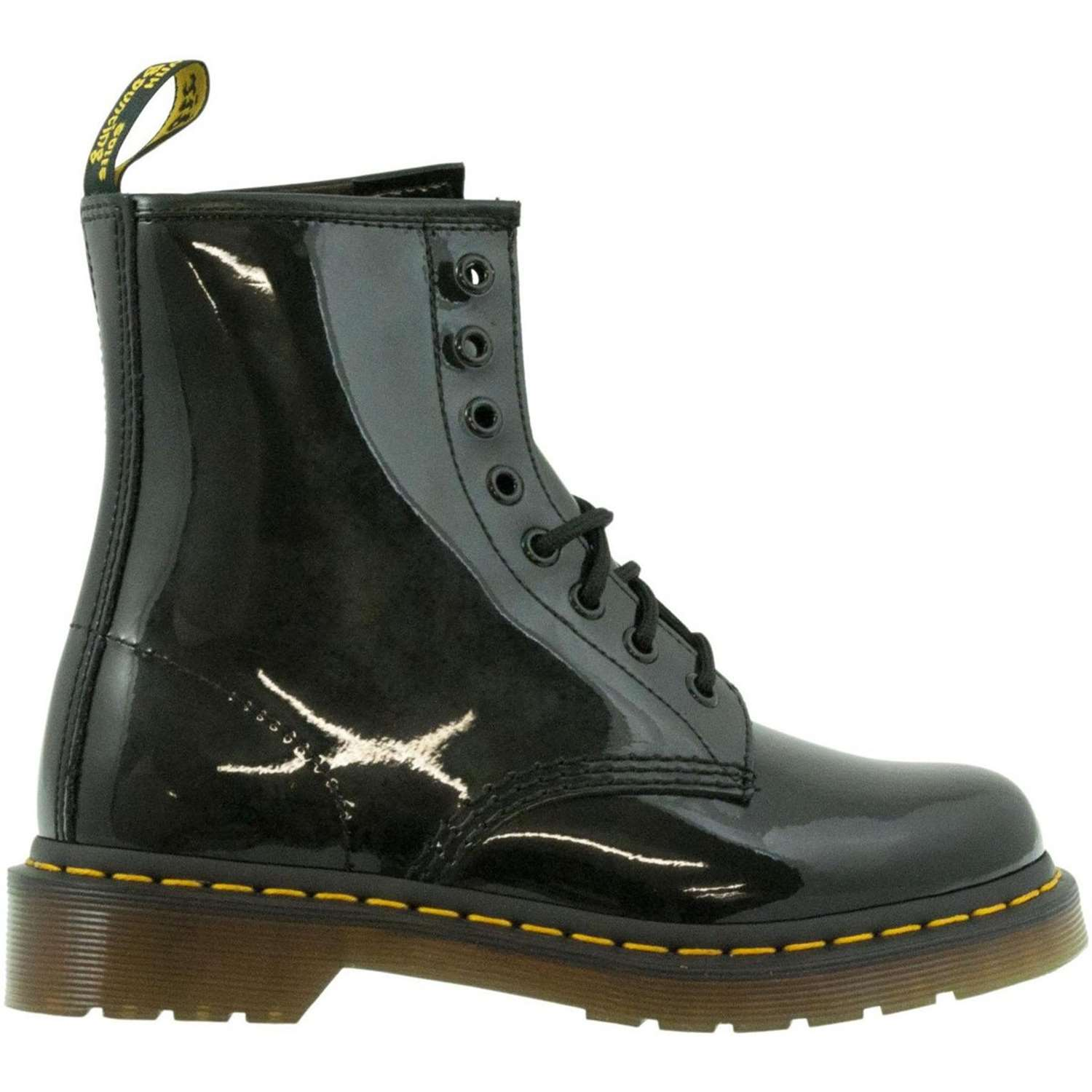 Dr.martens 1460 NERO-PATENT LAM Black Shoes Woman