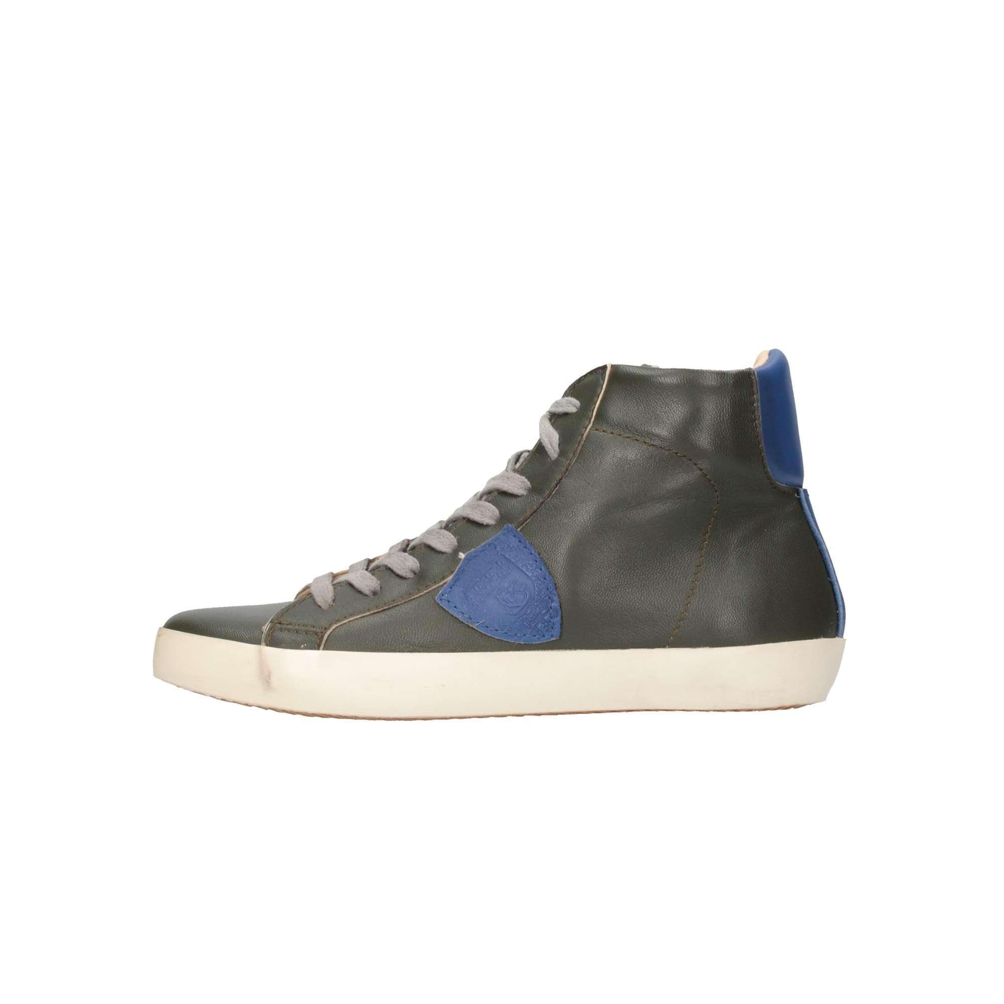 ... Philippe Model CLH0-V28C Olive blu Scarpe Bambino ... 7c3252a64c6